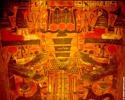 Painting of the Djed of Osiris.