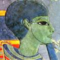 Ptah met hoofdkap en groene huid.