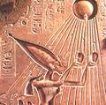 Akhenaten brengt Offers tot Aten.