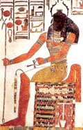 Khepra op de Troon.