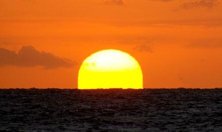 Zon achter de Horizon.