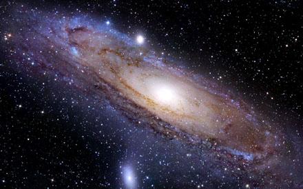 Draaiende galaxy.
