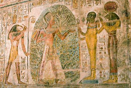Tehuti, Pharaoh, Ptah en Sakhmet.