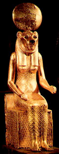 Gouden Sakhmet.