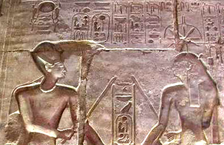 Seshat and Pharaoh.