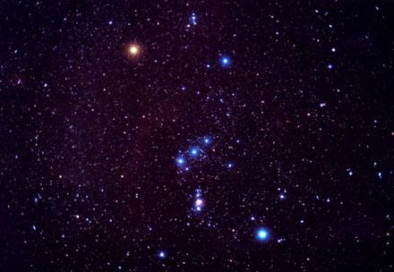 Orion met de sterren van Sirius.