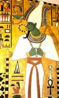 Neter Osirus, Asar met Herderstaf en Dorsvlegel.