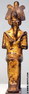 Verguld beeldje van Asar.