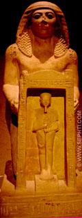 Man met kapel met daarin Ptah.