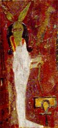 Suth houdt het lichaam van de Slang vast.
