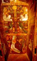 Binnenzijde van een sarcofaag kist.