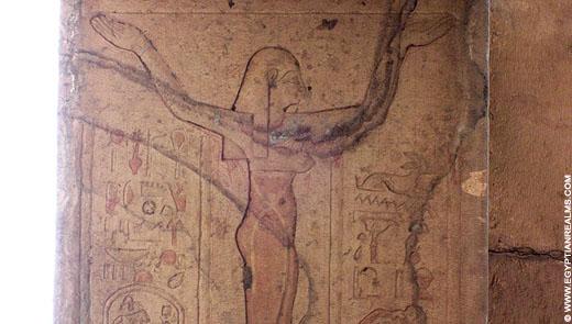 Nut afgebeeld op het plafond van de Kom-Ombo Tempel.