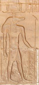 Relief van Seb in de Kom-Ombo Tempel.