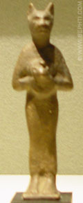 Cultus beeldje van Bastet.