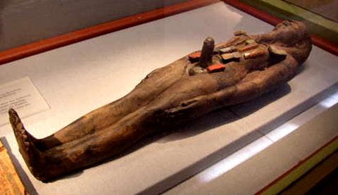 Egyptisch beeld van een persoon.