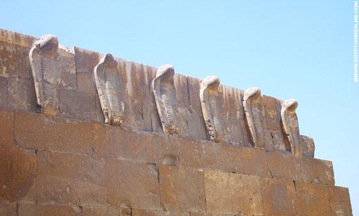 Cobra slangen bij Saqqara.
