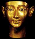 Gouden gezicht van Amun.