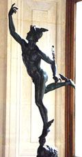 Beeld van Hermes.