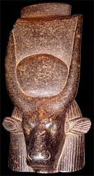 Beeld van de oud Egyptische Koe Het-Heru.