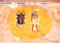 Khepra en Khnum afgebeeld in de Zon.