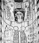 Nut afgebeeld in een sarcofaagkist.