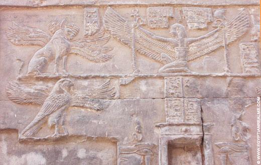 Heh afgebeeld op een muur in de Kom-Ombo Tempel.