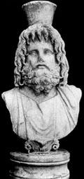 Borstbeeld van Serapis.