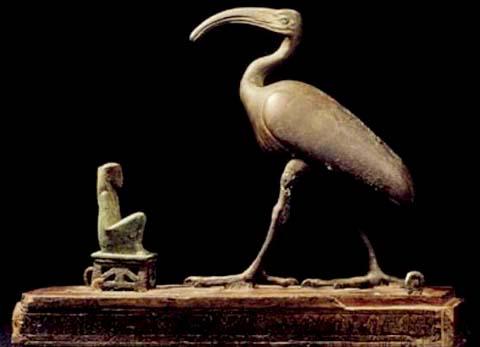 Kistje met de Ibis vogel van Tehuti.