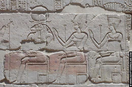 Relief van Ankhet afkomstig van de Philae tempel.