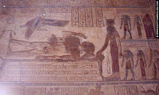 De Ogdoad afgebeeld op een muur van de Karnak Tempel.