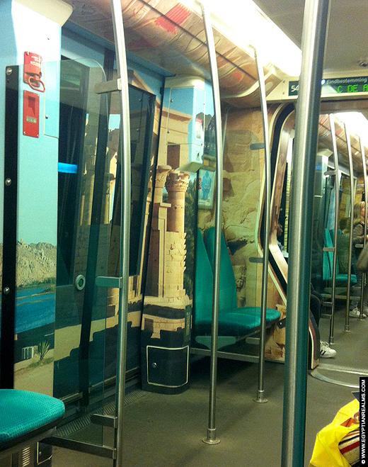 Rotterdamse metro in Egyptische stijl.