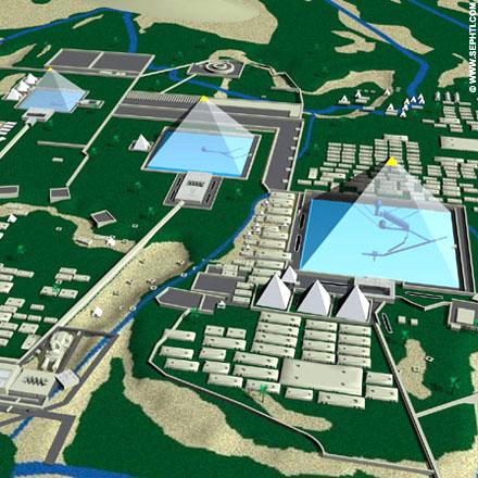 Reconstructie Piramides van Gizeh.