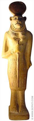 Sakhmet sculptuur.