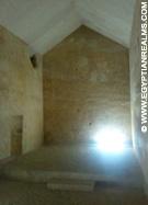 Kamer in de piramide van Chephren.