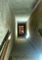 Gang in de piramide van Chephren.