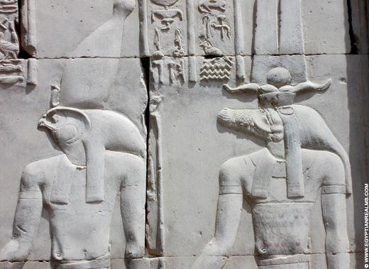 Relief uit de Tempel van Kom-Ombo in Egypte.