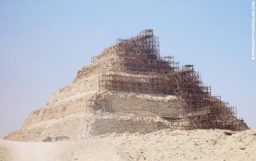 Djoser Piramide bij Saqqara.
