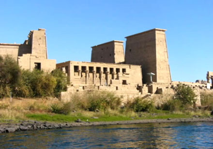 Tempel van Philae in Egypte.