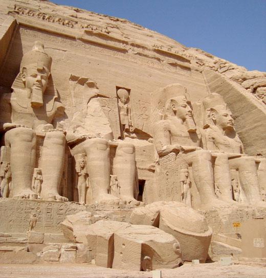Tempel van Abu Simbel.