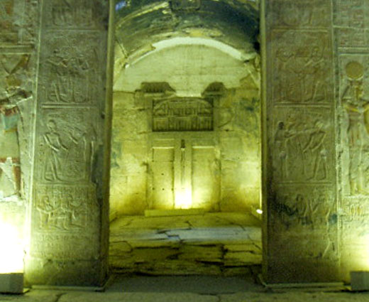 Heiligdom in de Abydos tempel.