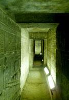Ondergrondse gang van de Dendera Tempel.