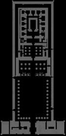Plattegrond van de Egyptische Edfu Tempel.