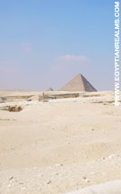 Terrein bij de Piramides van Giza.