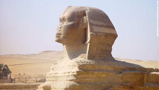 Grote Sphinx in Giza.