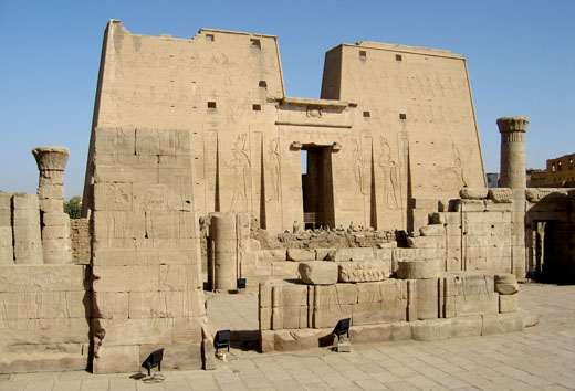 Edfu Tempel in Egypte.