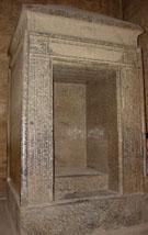 Granieten Naos in de Edfu Tempel.