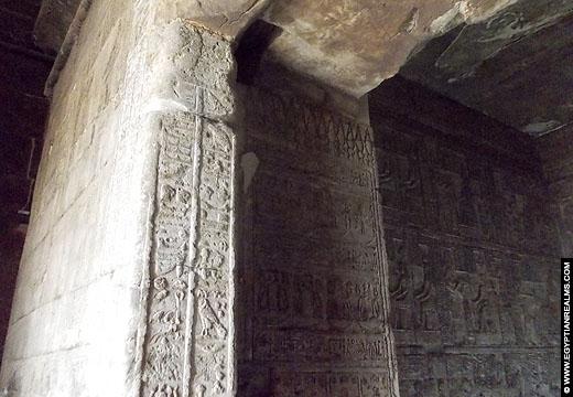 Zicht op het heiligdom van de Isis Tempel.
