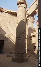 Pilaar in de Tempel van Kalabsha.