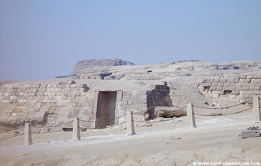 Mastaba restanten in Gizeh.