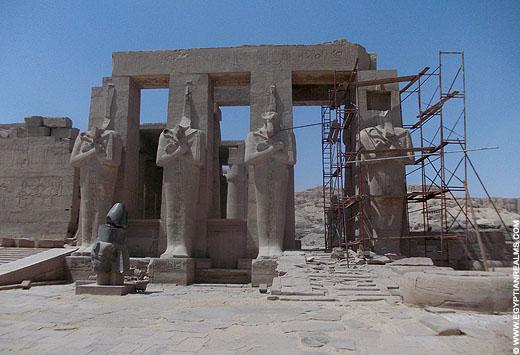 Ramesseum Tempel op de westbank in Luxor.